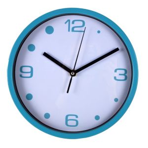 View Blue & White Round Wall Clock details
