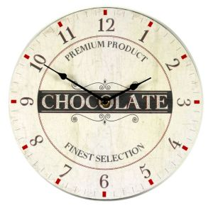View Chocolate Matt Multicolour Round Wall Clock details