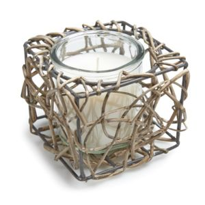 View Wicker Glass Tealight Holder, Small details