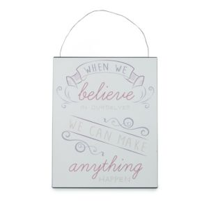View When We Believe Hanging Plaque (W)200mm (H)250mm details