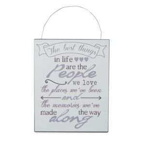View The Best Things In Life Hanging Plaque (W)200mm (H)250mm details