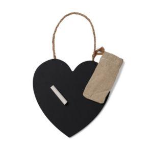 Image of Heart Black Chalkboard (W)160mm (H)160mm