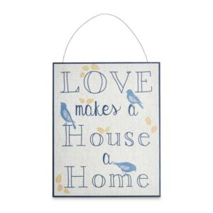 Photo of Love makes a house a home plaque -w-250mm -h-200mm