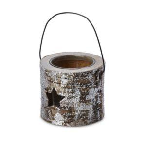 Glitter Star Wooden Tea Light Holder