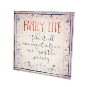 Image of Family life Typography canvas art (W)18mm (H)500mm