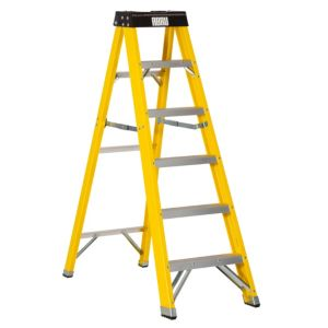 View Abru 6 Tread Fibreglass Step Ladder, 1.55m details