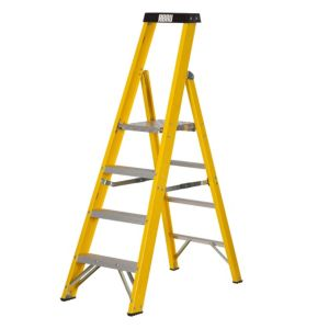 View Abru 4 Tread Fibreglass Stepladder, 1.67m details