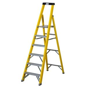 View Abru 6 Tread Fibreglass Stepladder, 2.17m details