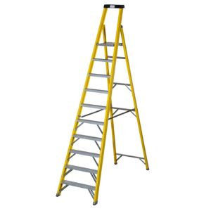 View Abru 10 Tread Fibreglass Step Ladder, 3.17m details