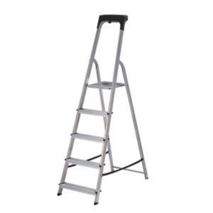 View Abru 5 Tread Aluminium Step Ladder, (H)1.81m details