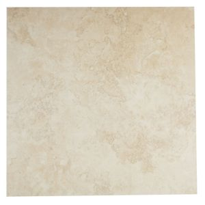 View Castle Travertine Cream Ceramic Wall & Floor Tile, Pack of 5, (L)450mm (W)450mm details