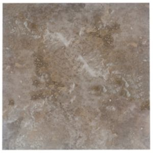 Image of Castle travertine Coffee Stone effect Ceramic Wall & floor tile Pack of 5 (L)450mm (W)450mm
