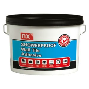 Image of NX Showerproof Ready to use Wall tile adhesive Off white 2.5 kg