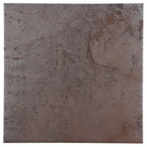 View Metallic Grey Copper Effect Patterned Porcelain Wall & Floor Tile, Pack of 16, (L)300mm (W)300mm details