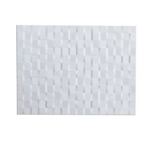 View Designer White Abstract Ceramic Wall Tile, Pack of 8, (L)300mm (W)400mm details