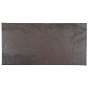 View Metallic Grey Copper Effect Patterned Porcelain Wall & Floor Tile, Pack of 6, (L)300mm (W)600mm details