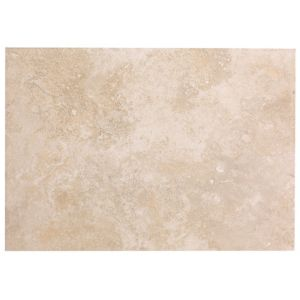 View Castle Travertine Cream Ceramic Wall Tile, Pack of 7, (L)330mm (W)450mm details