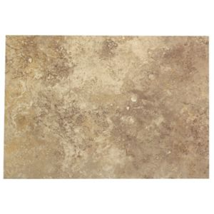 Image of Castle travertine Coffee Stone effect Ceramic Wall tile Pack of 7 (L)450mm (W)316mm