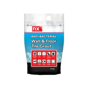 Image of NX Anti-bacterial White Wall & floor tile grout (W)2.5kg