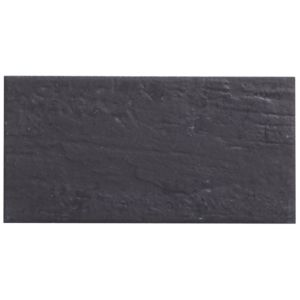 View Colours Charcoal Ceramic Wall Tile, Pack of 25 (W)100mm (L)200mm details