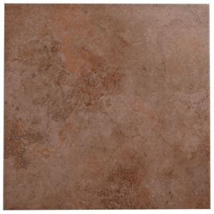 View Castle Travertine Chocolate Ceramic Wall & Floor Tile, Pack of 5, (L)450mm (W)450mm details