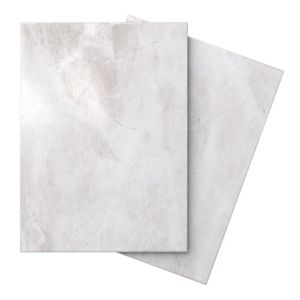 View Illusion White White Marble Effect Ceramic Wall & Floor Tile, Pack of 10, (L)360mm (W)275mm details