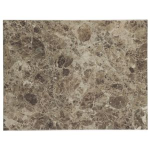 Image of Illusion Emperador Marble Effect Ceramic Wall & Floor Sample Tile (L)360mm (W)275mm