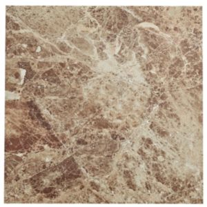 Image of Illusion Emperador Marble Effect Ceramic Wall & Floor Sample Tile (L)430mm (W)430mm