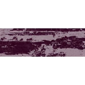 Image of Aura Mulberry Satin Ceramic Wall tile Pack of 34 (L)300mm (W)100mm