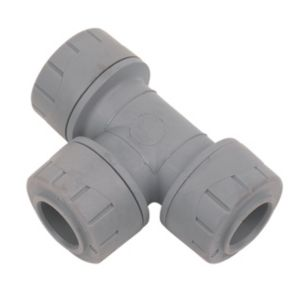 View Polyplumb Plastic Push Fit Equal Tee (Dia)15 mm, Pack of 10 details