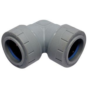 Image of PolyPlumb Push-fit 90° Pipe elbow (Dia)28mm
