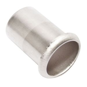 Image of PolyPlumb Chrome effect Stainless steel Push-fit Pipe insert (Dia)28mm Pack of 5