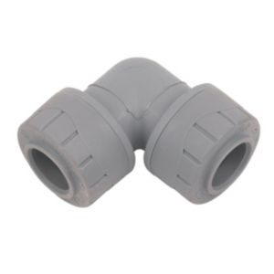 View Polyplumb PB115-10V2 Plastic Elbow (Dia)15 mm, Pack of 10 details