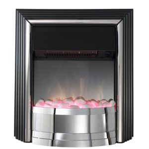View Dimplex Zamora Electric Freestanding Fire, Chrome Effect details