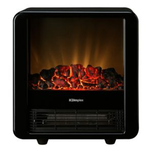 View Dimplex Micro-Fire Black Freestanding Electric Stove details