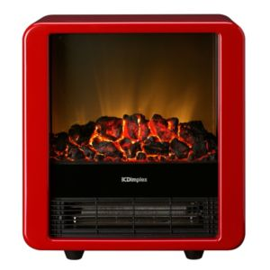 View Dimplex Micro-Fire Red Freestanding Electric Stove details