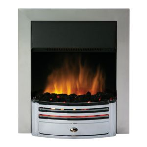View Dimplex Chrome Effect with Black Insert Bordeaux Electric Location: Inset Inset Fire,  Chrome Effect details