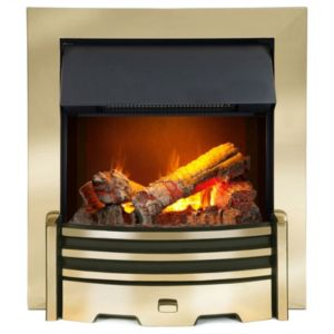 View Dimplex Optimyst Electric Inset Fire, Brass Effect details