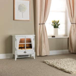 View Dimplex Jazz White Electric Freestanding Stove details