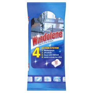 Image of Windolene Glass & Shiny Surface Wipes Pack of 15