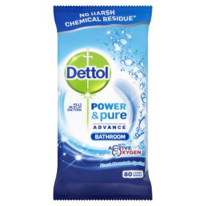 Image of Dettol Bathroom Cleaning wipes pack of 80