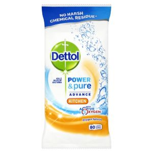 Image of Dettol Kitchen Cleaning wipes pack of 80