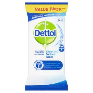 Image of Dettol Surface Cleaning wipes pack of 84