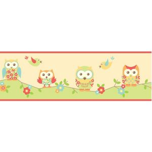 View Fun4Walls Owl Multicolour Childrens Border details