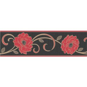 View Florentina Cream & Red Floral Border details