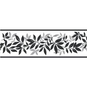 View Leaf Trail Black & Silver Border details