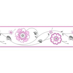 View Cassidy Cream & Pink Floral Border details
