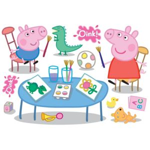 View Fun4Walls Peppa Pig Self Adhesive Wall Stickers (L)750mm (W)70mm details
