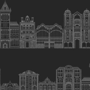 View Fine Decor Empire Black & Grey Wallpaper details