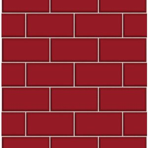 View Ceramica Red Subway Tile Wallpaper details